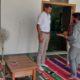 DSP Jaidev Sihag at Bhandavpur Jain Tirth with Acharya shri Jayratna Suri