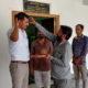 DSP Jaidev Sihag at Bhandavpur Jain Tirth with Achrya shri Jayratna Suri