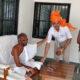 DSP Jaidev Sihag at Bhandavpur Jain Tirth with Achrya Jayratna Suri